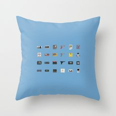 8-BIT Retro Console & Game Throw Pillow