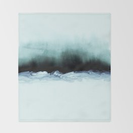 nordic shores 1 Throw Blanket