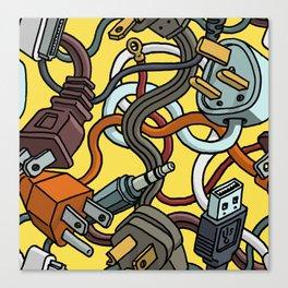 Plugs Canvas Print