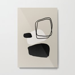 Mid century modern abstract minimalistic shapes Metal Print