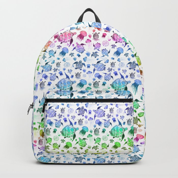 Ocean Life - Rainbow Colors Backpack