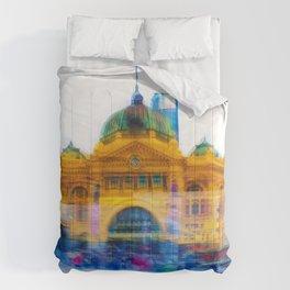 Flinders Street Photo Montage Comforters