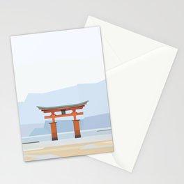 Floating torii, Itsukushina Shrine, Japan Stationery Cards
