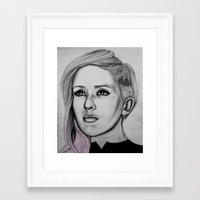 ellie goulding Framed Art Prints featuring Ellie Goulding by CBDB