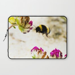 the flight of bumble bee on the dunes I Laptop Sleeve