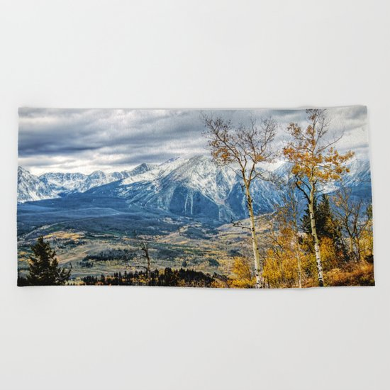 Colorado Autumn Beach Towel