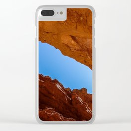 Red Slot Canyon Clear iPhone Case