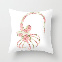 Floral Facehugger Throw Pillow
