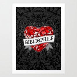 Bibliophile Heart Art Print