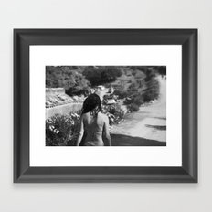 girl from behind Framed Art Print
