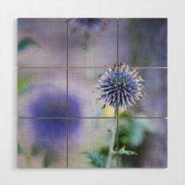 Purple blue Wood Wall Art