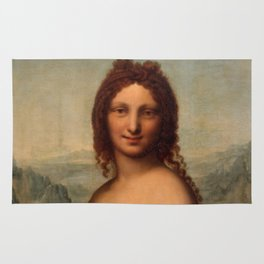 "Leonardo da Vinci ""Nude Woman (Donna Nuda)"" Rug"