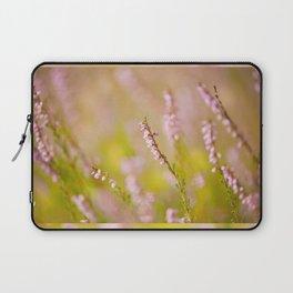 Soft focus of pink heather macro Laptop Sleeve