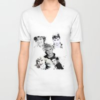 1d V-neck T-shirts featuring 1D Splat by D77 The DigArtisT