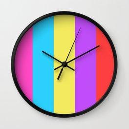 Colour palette cool modern design Wall Clock