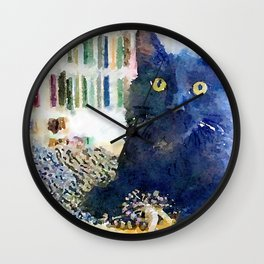 Alfred Watercolor Wall Clock