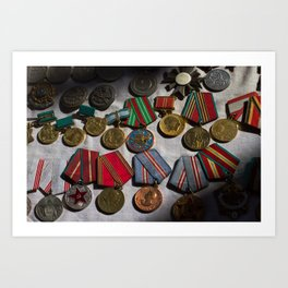 RussianMedals_Afghanistan Art Print