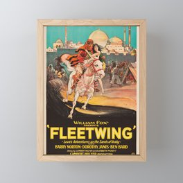 Fleetwing - Vintage 1928 American Silent Film Poster Framed Mini Art Print