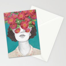 The optimist // rose tinted glasses Stationery Cards