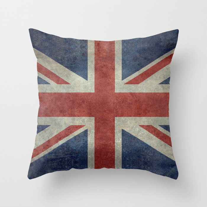 Union Jack 1 2 Version Throw Pillow By Brucestanfield
