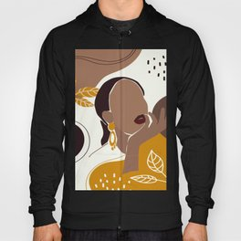 African American Art, Leaf Girl Print, Black Woman Wall Art, Black Girl Print, Fashion Print Hoody