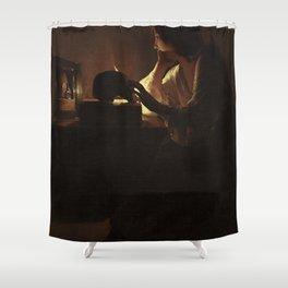 Georges de La Tour - The Repentant Magdalen Shower Curtain
