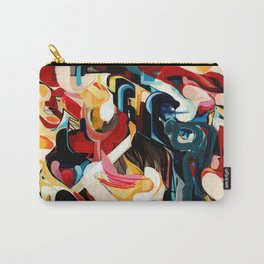 Expressive Abstract Composition painting Carry-All Pouch