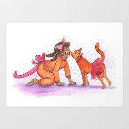 Copy Cats Art Print