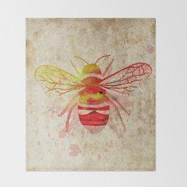 Watercolor Bumblebee Throw Blanket