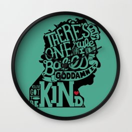 Be Kind, Babies Wall Clock