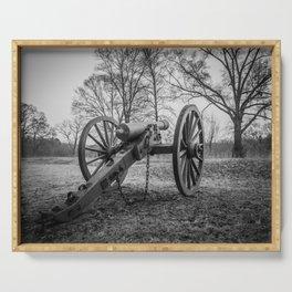 Spotsylvania Virginia Historic Artillery Black and White Fine Art Photography Civil War Serving Tray