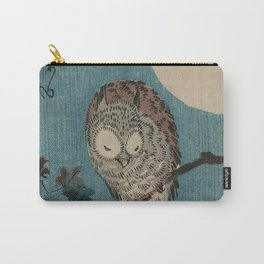 Vintage Japanese Owl Carry-All Pouch
