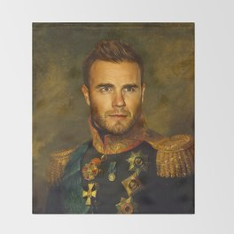 Gary Barlow - replaceface Throw Blanket