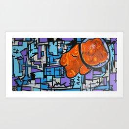 Astronaut Gummy Bear Art Print