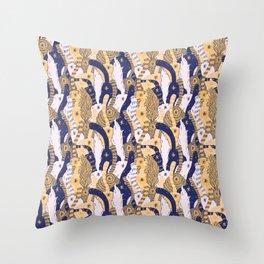 Yellow Cat Butts Throw Pillow