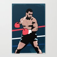 mike tyson Canvas Prints featuring Mike Tyson Poster by Marco A. Valdez