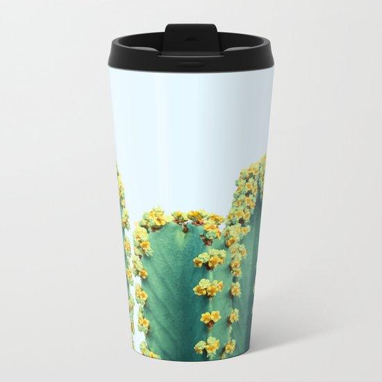 Adorned Cactus #society6 #artprints #buyart Metal Travel Mug