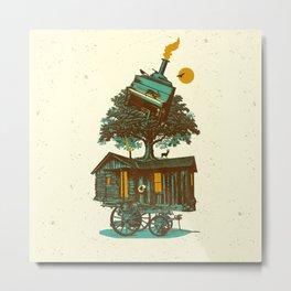 TREE CABIN Metal Print