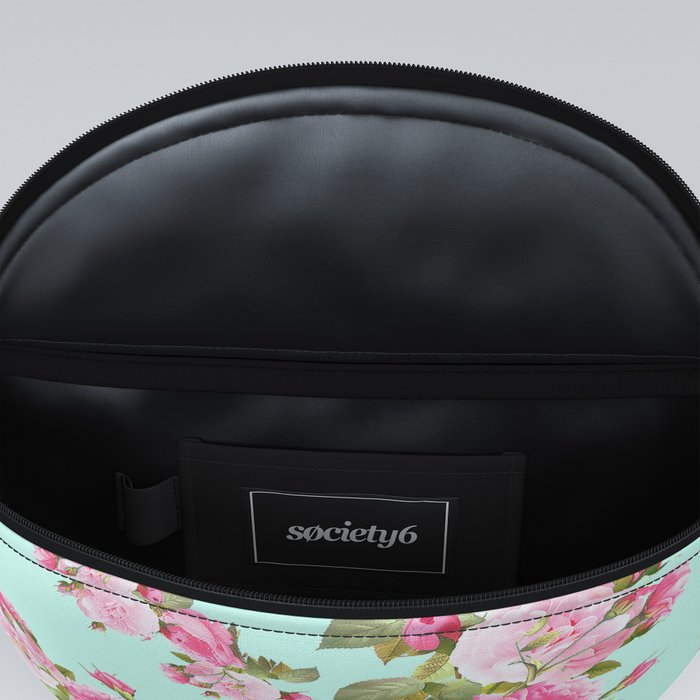 Pink & Mint Green Floral Fanny Pack