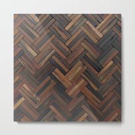Dark Wood Patterns Metal Print
