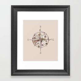 Wind rose Framed Art Print