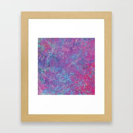 Acid Wash Framed Art Print