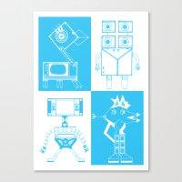 robots Canvas Prints featuring Robots by Studio Teer