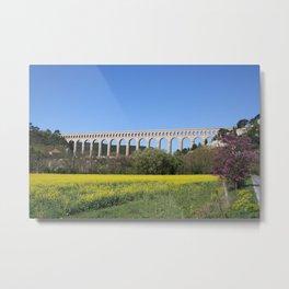 Aqueduct Roquefavour Metal Print