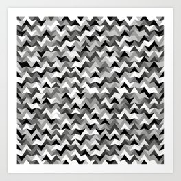 Chevronius Bunk Art Print