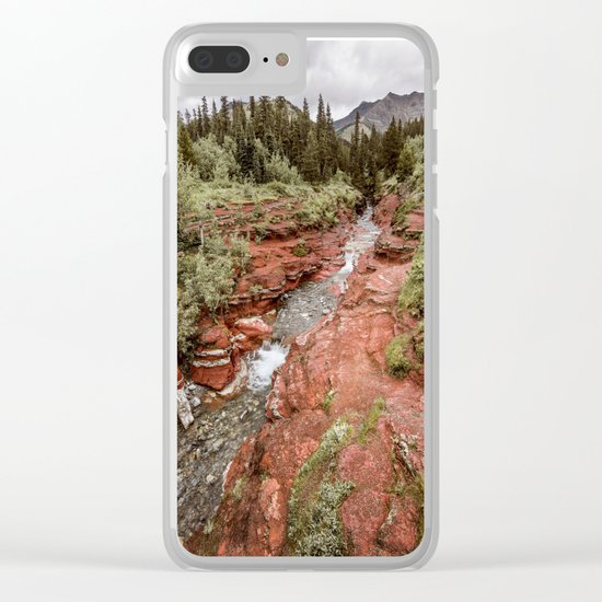 Landcape Red Rock Canyon Photography | Waterton Alberta Canada Clear iPhone Case