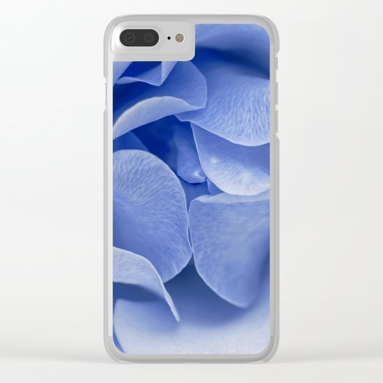 Blue flora Rose Bud- Roses and flowers Clear iPhone Case