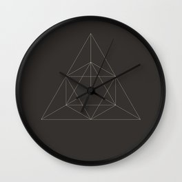 Geometric Dark Wall Clock