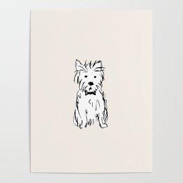 Milo the dog Poster