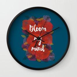Bloom my mind I Wall Clock